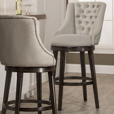 counter height swivel bar stools with backs features: -360 degree swivel stool. -armchair design. -nailhead trim on BFFNNPM