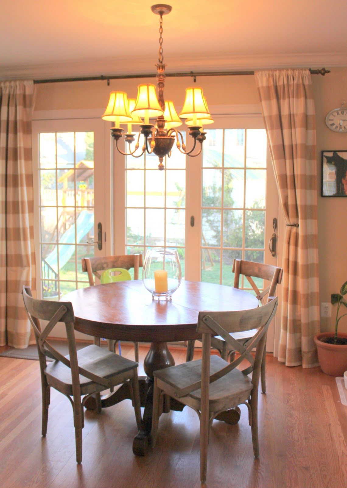 curtains for sliding glass doors in kitchen sliding glass door curtain ideas...love the country chairs and the HXVSPDY
