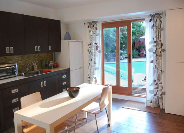 curtains for sliding glass doors in kitchen view in gallery sliding glass doors in the kitchen keep VVDVRQJ