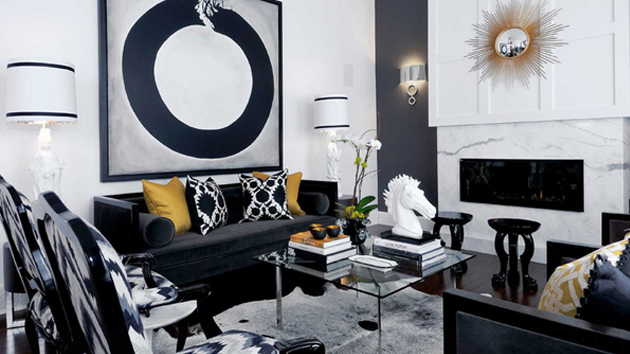 decorating with black furniture in the living room 20 attractive black sofa living room | home design lover PLPZOEH