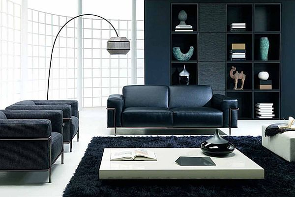 decorating with black furniture in the living room view in gallery PFKTESU
