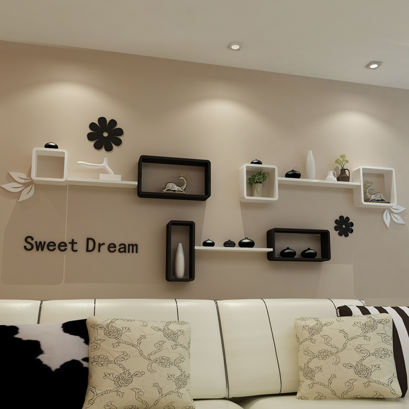 decorative wall shelves for living room ikea living room tv backdrop decorative wall mount rack cabinet YFQBQWG