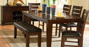 dining room table with bench and chairs a stunning dark oak finish, birch veneer dining set with FGOVUKC