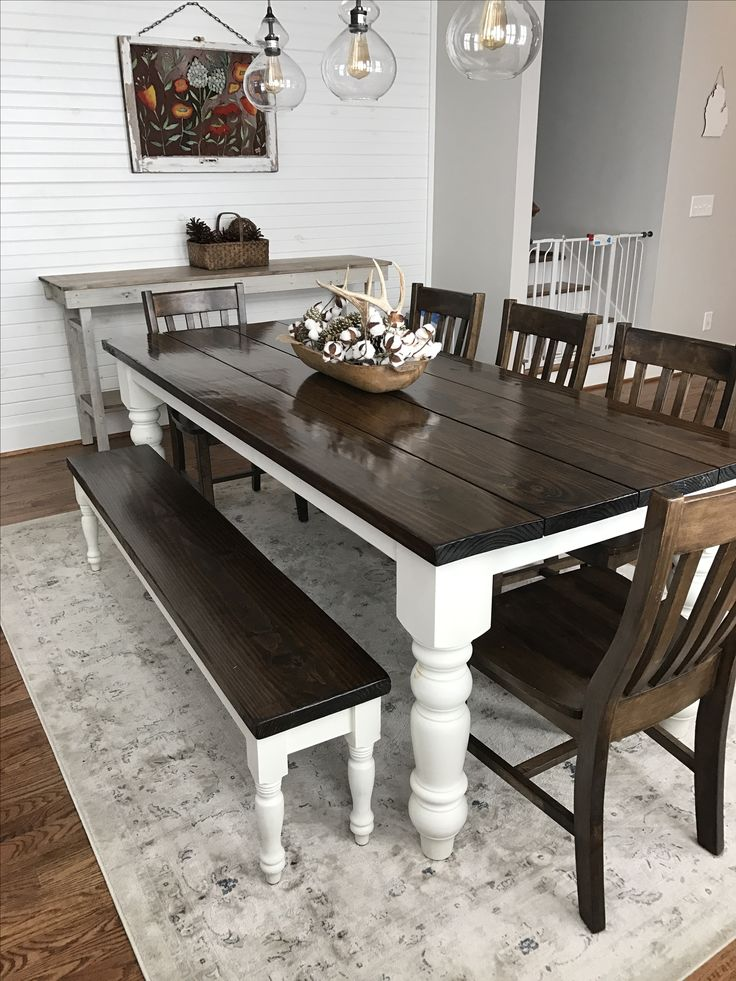 dining room table with bench and chairs baluster turned leg table | decor ideas | pinterest | VPBTFQD