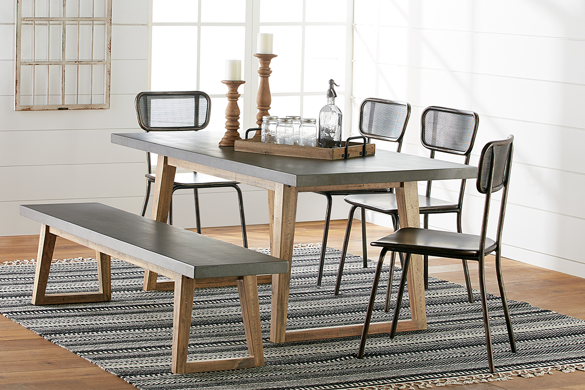 dining room table with bench and chairs ... dining kitchen magnolia home standard hiatus tbl aspx room XKCEGNG