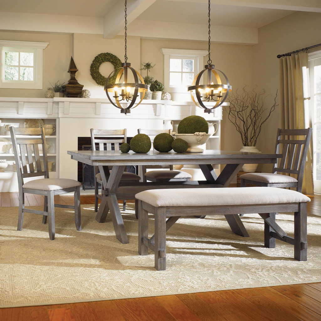 dining room table with bench and chairs rustic banquette bench seating dining UVAQDRG