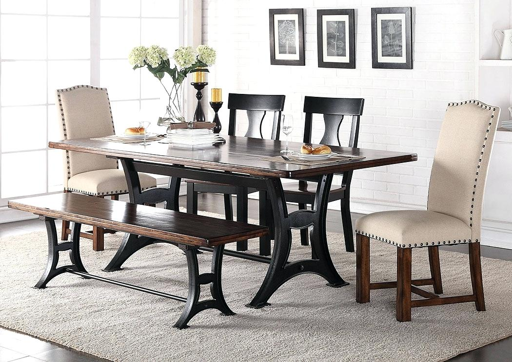 dining room table with upholstered chairs dining set with upholstered chairs rectangular dining table w 2 JHCGTSV