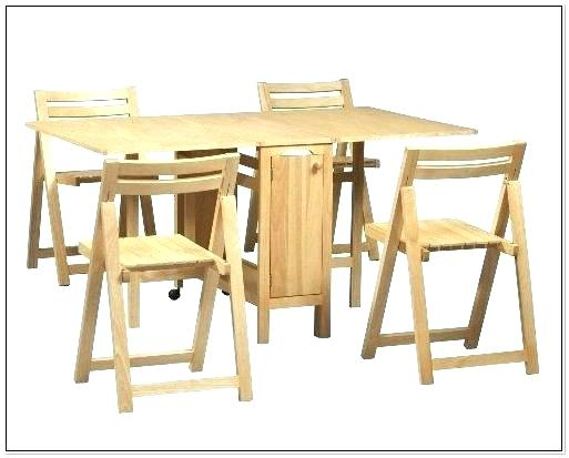 drop leaf table with folding chairs stored inside foldable table with chair storage folding table with chairs inside OXCXIKV