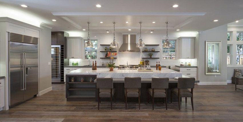 Graceful Extra Large Kitchen Island with Seating