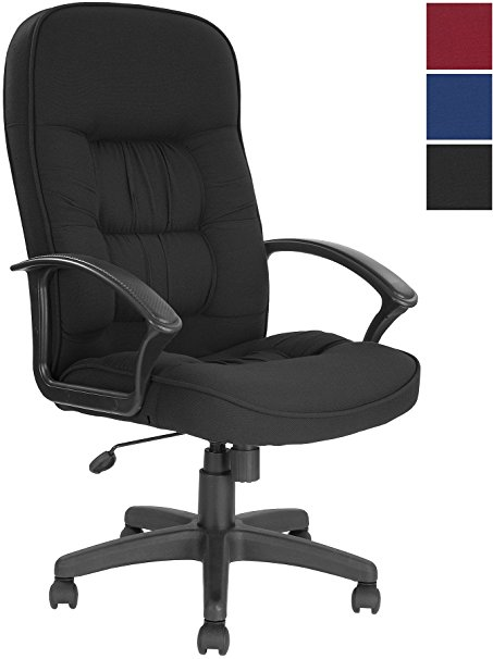 fabric office chairs with arms and wheels cadiz high back executive fabric office chair black amazon co MFESZJL