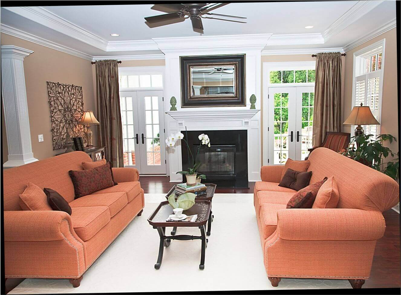family room design ideas with fireplace chic family room with fireplace and tv decorating ideas designs ZHIINEE