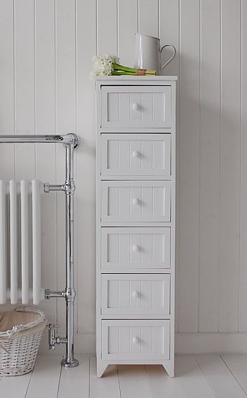 free standing bathroom cabinets with drawers maine narrow tall freestanding bathroom cabinet with 6 drawers for CPONAHN