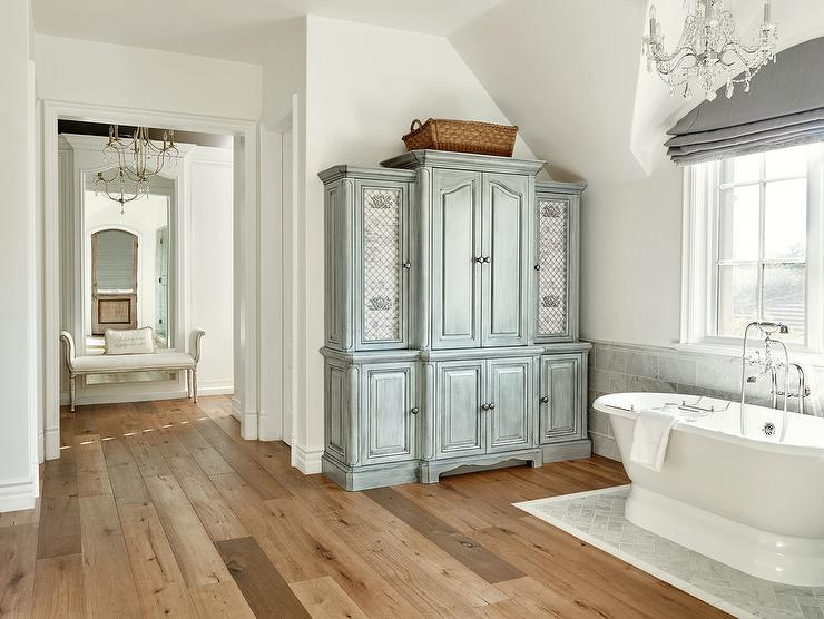 free standing linen cabinets for bathroom gray distressed bathroom linen cabinet with lattice doors GFABFQJ