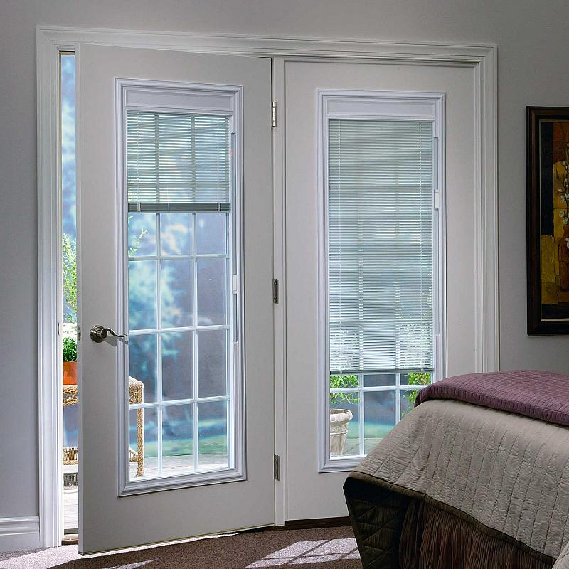 french doors with blinds between the glass beautiful exterior french doors with built in blinds with odl ZDYTOEI