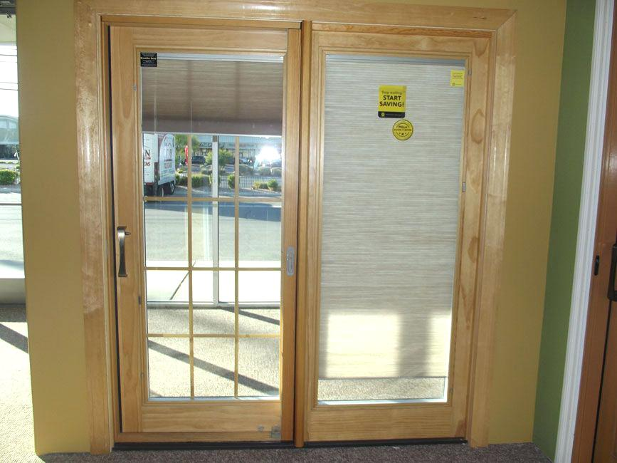 french doors with blinds between the glass blinds between glass door shades inside windows sliding door wood VFOKLIH