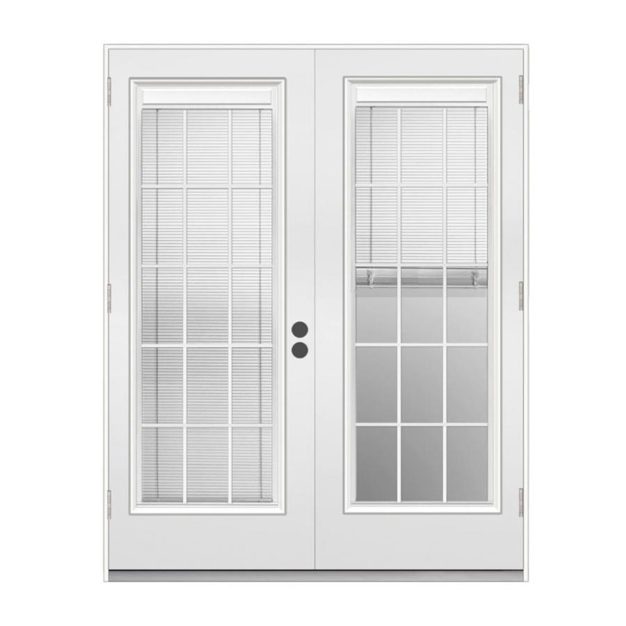 french doors with blinds between the glass jeld-wen 71.5-in x 79.5-in blinds between the glass right- BTCEMKI