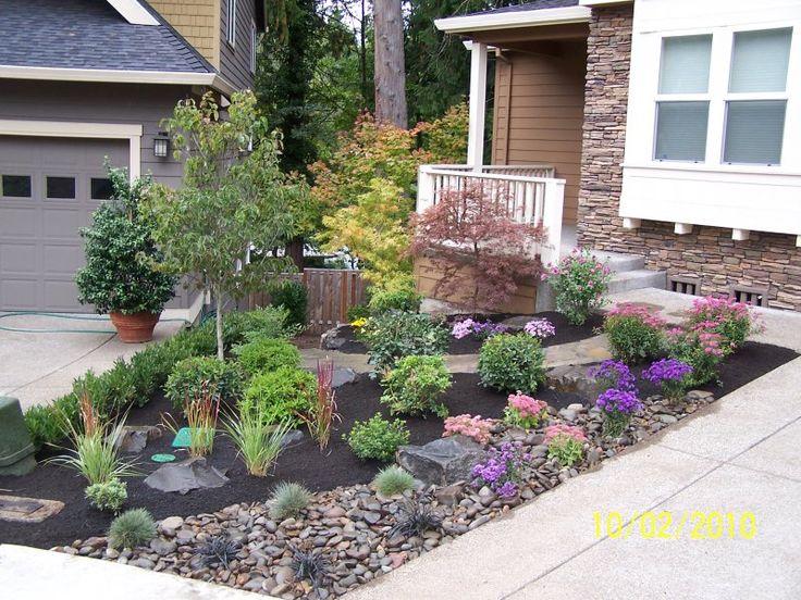 front yard landscaping ideas with rocks dark grey rock landscaping ideas for front yard on black WAMVSUH