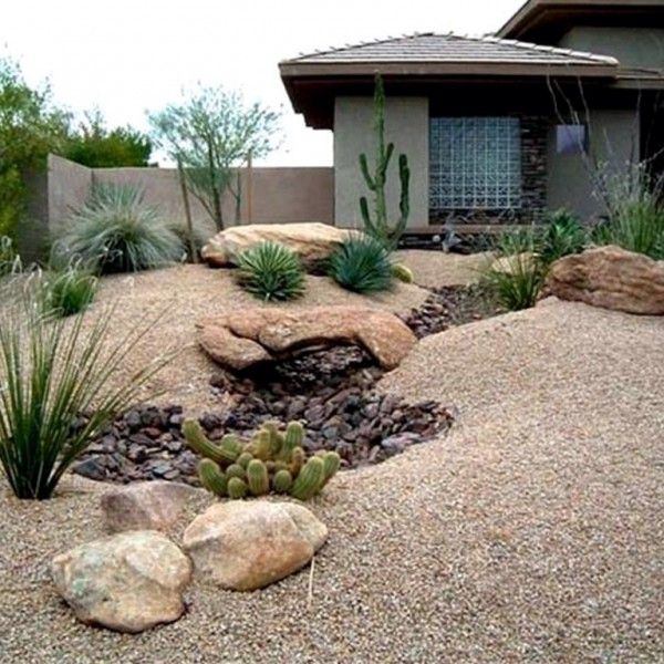 front yard landscaping ideas with rocks WJCXXFW