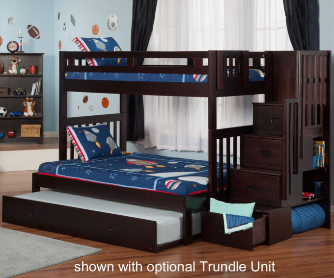 full over full bunk beds with trundle and stairs exquisite gorgeous full over bunk beds with stairs 23 atl YBKNJRG