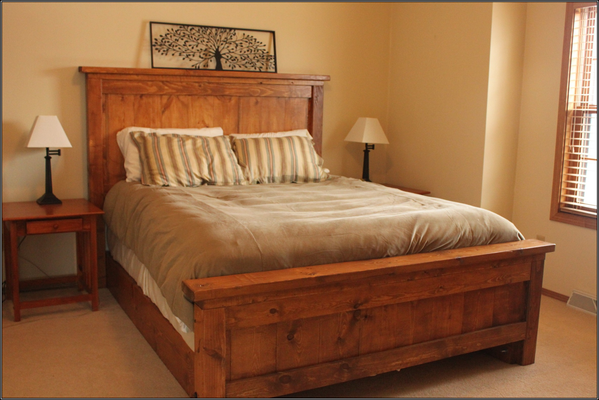 full size wooden bed frame with headboard modern rustic bed frame idea with high headboard rustic bedside BJCAWIM