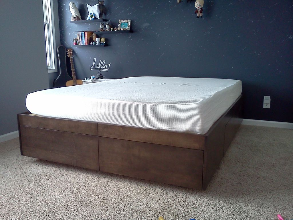 full size wooden bed frame with headboard picture of platform bed with drawers ... CXTRNCX