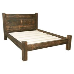 full size wooden bed frame with headboard treble plank headboard bed frame FRMFTUV