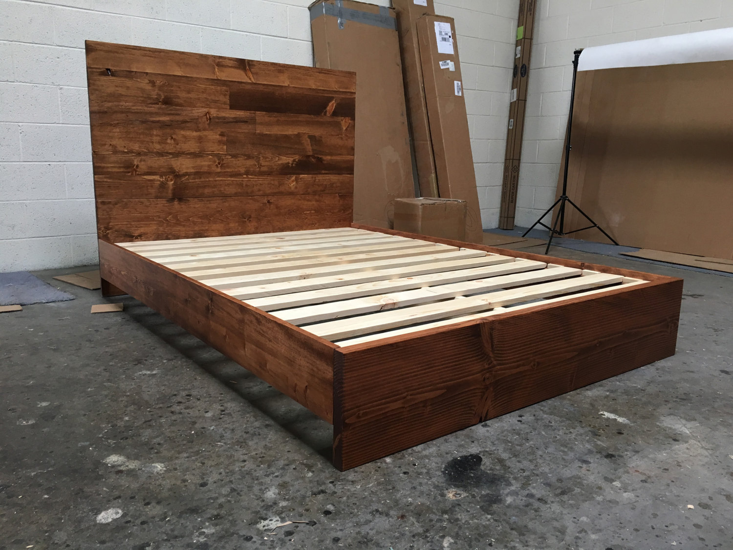 full size wooden bed frame with headboard wood full size headboard WJAGKTB
