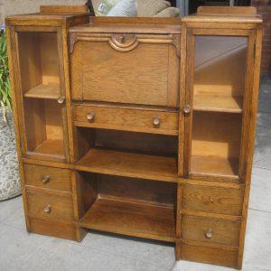 furnitur antique drop front secretary desk with bookcase as barrister  bookcase LANRZWM