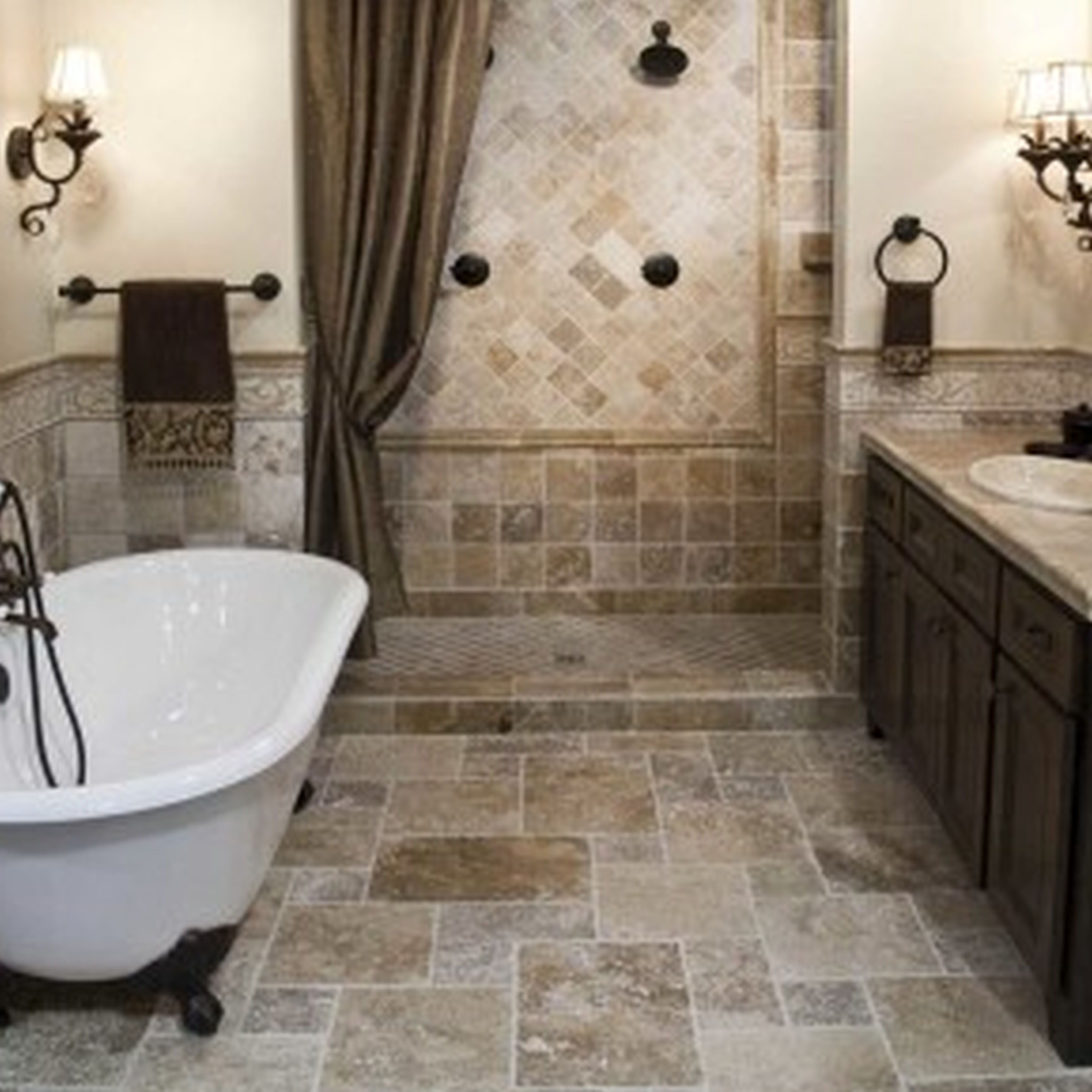 great bathroom floor tile ideas for small bathrooms awesome designs from DUDWZYM