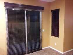 horizontal blinds for sliding glass doors a new twist on horizontal blinds for your door. wood NVXIYNN