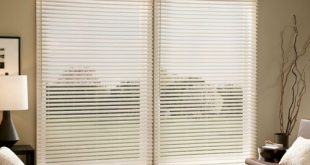 horizontal blinds for sliding glass doors faux wood blinds; sliding glass door VHTXWXV