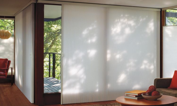 horizontal blinds for sliding glass doors glass door window treatments - duette ... RCAFKER