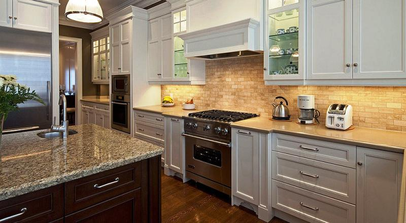 image of: kitchen backsplash ideas with white cabinets MFJZDUC