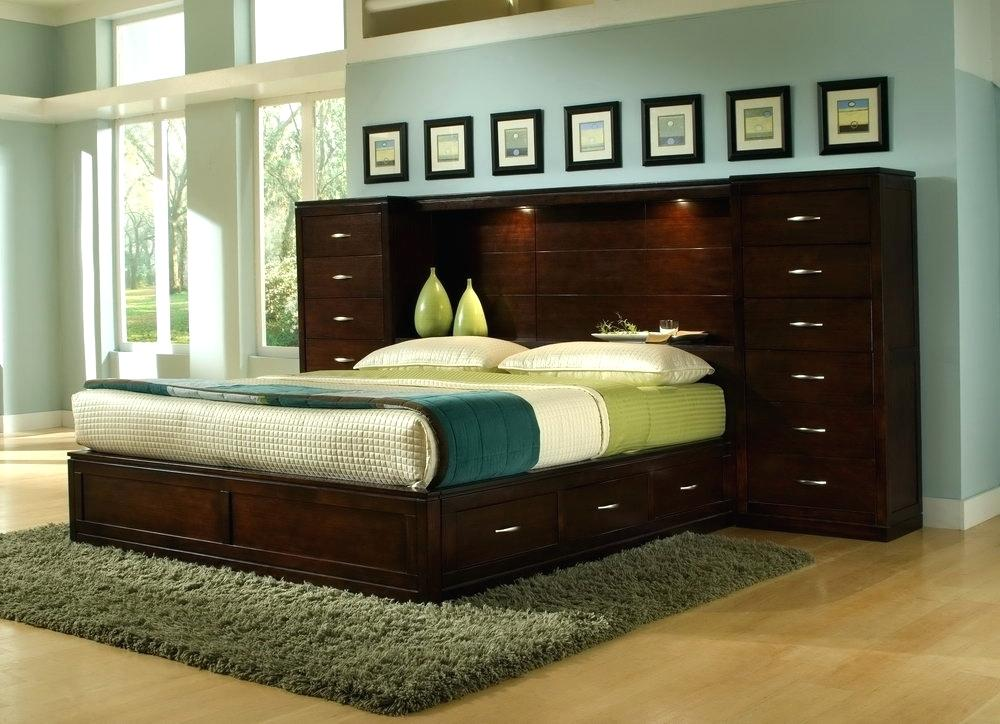 king size headboard with storage and lights architecture: headboard with storage and lights contemporary beautiful  bedroom MTIHYMD
