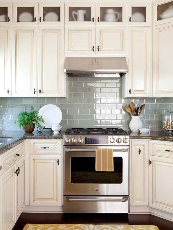 kitchen backsplash ideas with white cabinets kitchen backsplash ideas | better homes u0026 gardens KDYOCKJ