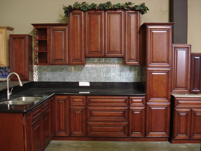 kitchen color schemes with cherry cabinets AVWMHZN