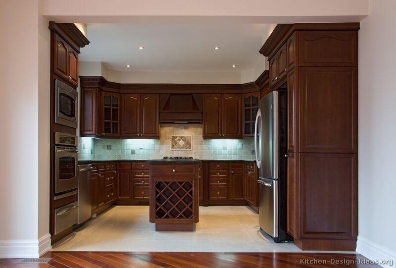 kitchen color schemes with cherry cabinets BYFNIIA