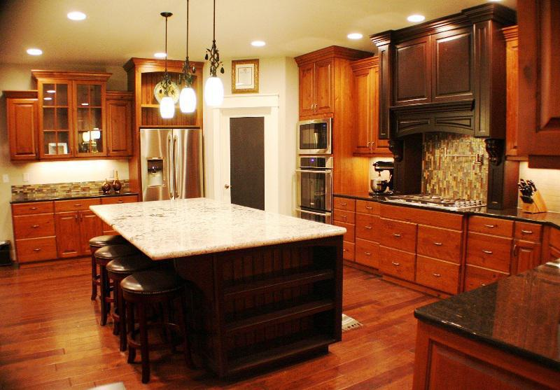 kitchen color schemes with cherry cabinets image of: kitchen color schemes cherry cabinets WFMYGDZ
