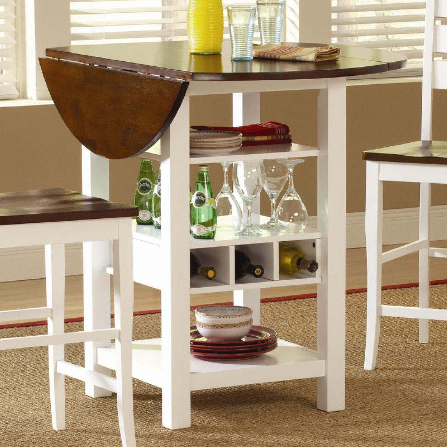 kitchen table and chairs for small spaces image of: wood drop leaf dining table for small spaces ZUWHFAW