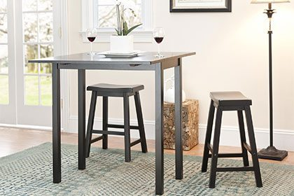 kitchen table and chairs for small spaces traditional shapes QTHSOXH
