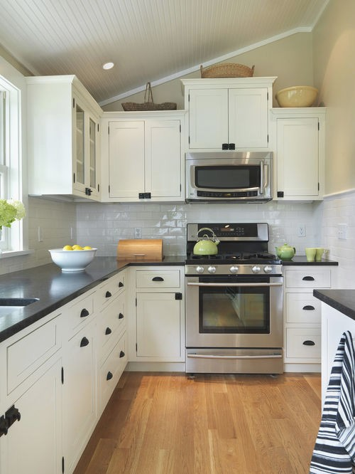 kitchen with white cabinets and black countertops white cabinet dark countertop houzz RYSQMBP