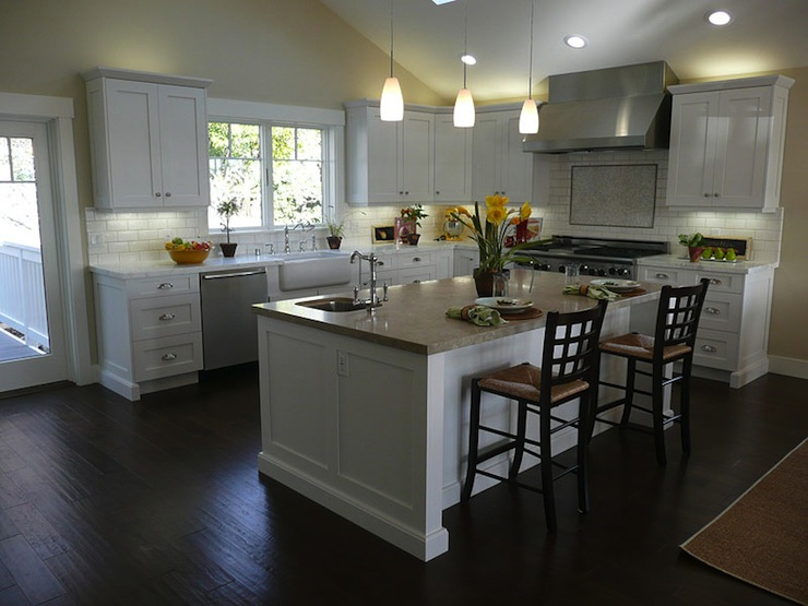 kitchens with white cabinets and dark floors interior, white kitchen cabinets dark wood floors transitional limited with SQACZRG