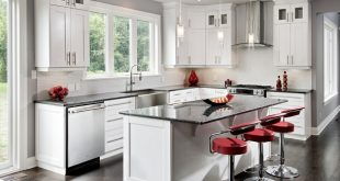 kitchens with white cabinets and dark floors light cabinets with dark floors 1 TLADKMQ