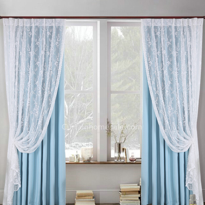 Lace Sheer Curtains elegant white embroidered lace sheer curtain EZATCLX