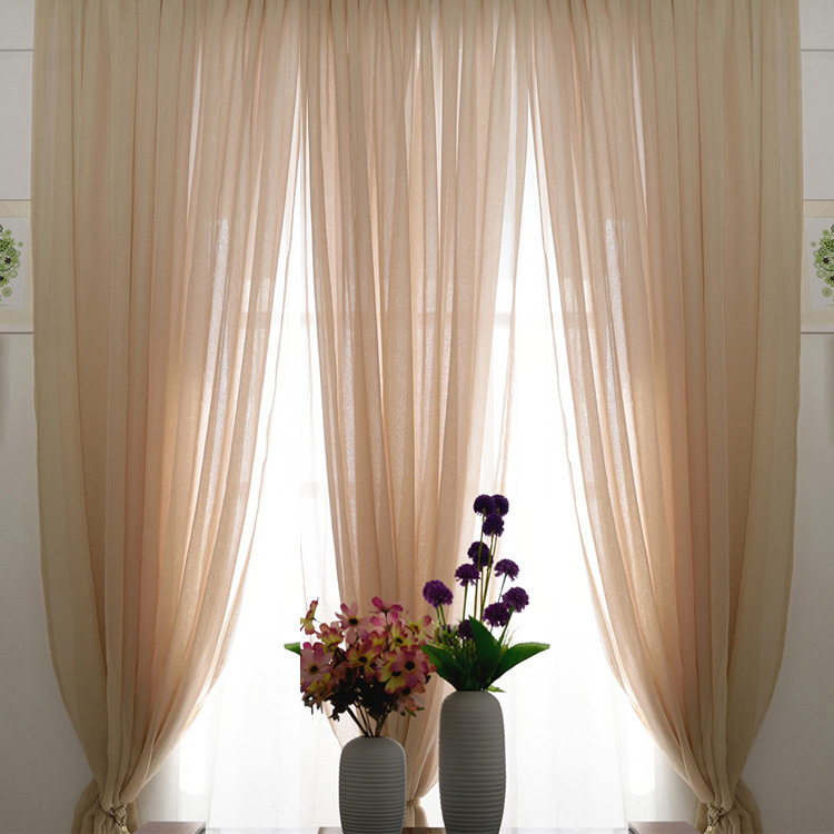 Lace Sheer Curtains romantic beige color sheer lace curtains FTSBYOX