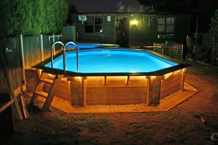 landscaping ideas around above ground pool above ground pool landscaping lights YUOFTGW