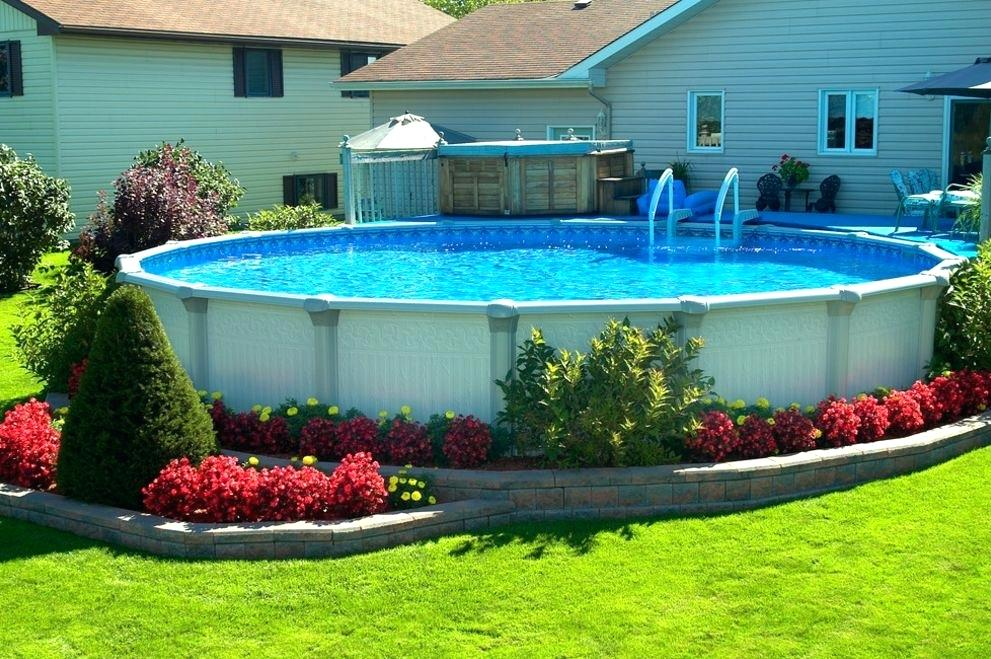 landscaping ideas around above ground pool above ground pool patio first rate above ground pool landscaping COQACRA