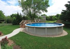 landscaping ideas around above ground pool above ground pool with partial deck and sidewalk. FRQDCSA