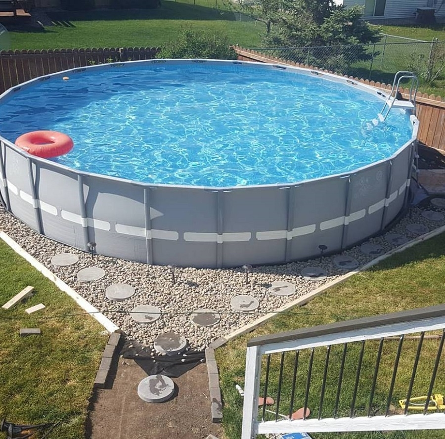 landscaping ideas around above ground pool ... above ground swimming pool landscaping ideas luxury cheap landscaping ZNCZHPG