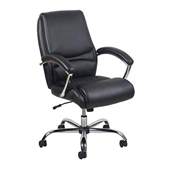 leather executive office chair high back essentials high-back leather executive office/computer chair with arms - NLGBWNC